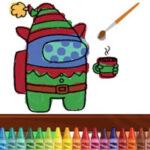 Among Us para pintar on-line no Natal