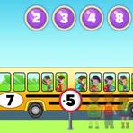 Aprender a adicionar e subtrair com o autocarro escolar