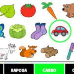 Busca de objetos em Português