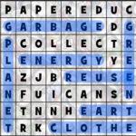Caça-Palavras de Reciclagem em inglês