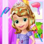 Cuidar cabelo da princesa Sofia