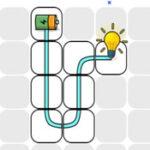 Circuito elétrico com lâmpada