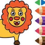 Coloração de animais para pré-escolares