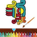 Colorir os Símbolos Astecas