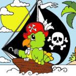 Colorir Barco pirata