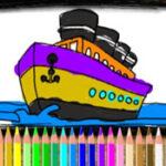 Coloração online de Barcos