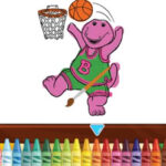 Colorir online Barney