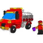 Colorir caminhões Lego