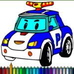 Colorir Carros de Polícia