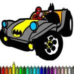 Colorir Carros de Super-heróis