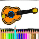 Instrumentos Musicais para Colorir