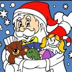 Colorir o Papai Noel