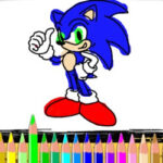 Colorir Desenhos de Sonic