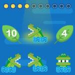 Compare com o Crocodilo: menos do que, igual a, maior do que