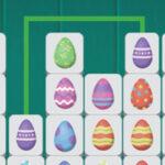 Conectar os ovos de Páscoa correspondentes