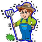 Conecte os pontos numerados na Fazenda