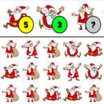 Contagem de Natal. Quantos Papais Noéis há?