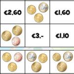 Contar Dinheiro: moedas de Euro