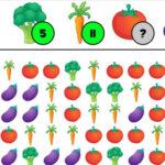 Contar hortaliças na Fazenda