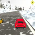 Simulador de corrida de carros na neve