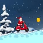 Corrida de motocicletas Santa Claus