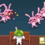 Defesa Zumbi com o coelhinho