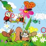 10 Diferenças nos desenhos da Primavera