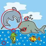 Encontrar as Diferenças com os Animais Marinhos