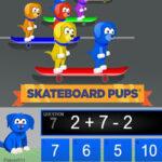 Cálculos de 2 Operações: Corrida de Skate
