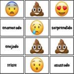 Emoções em espanhol com Emojis