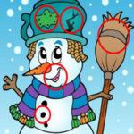 Encontrar Diferenças nos bonecos de neve