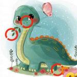 Encontre as Diferenças com os Dinossauros