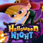 Flappy Halloween Night com a Bruxa