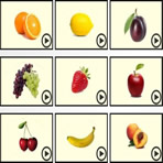 Escuta de frutas em inglês
