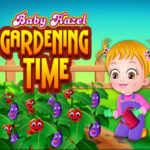 Baby Hazel cuida do Jardim
