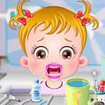 Bebê Hazel no dentista