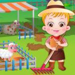 Baby Hazel na fazenda