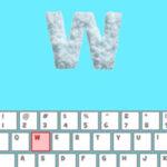 Letras com neve no Teclado