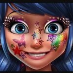 Maquiagem Glitter de Ladybug