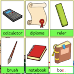 Digitaçao em inglês: material escolar