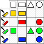 Matriz Lógica: Forma e Cor