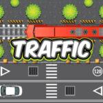 Pedestres que cruzam o tráfego
