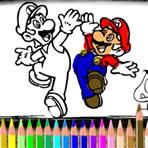 Pintando Mario e Amigos