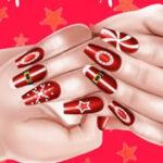 Decoração de unhas no Natal