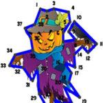 Pontos de Números no Halloween