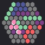 Tetris com Hexágonos Coloridos