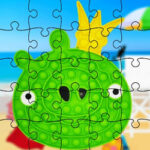 Puzzles Pop-It com Angry Birds