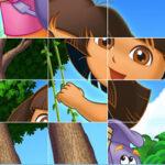 Quebra-cabeça deslizante com Dora