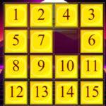 Puzzle deslizante Números em Ordem Ascendente
