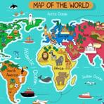 Quebra-cabeça do Mapa Mundial